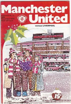 Vintage Football (soccer) Programme - Manchester United v Liverpool, 1978/79 season #football #soccer