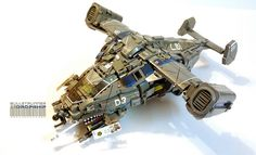 A dropship delivering more than just LEGO bricks
