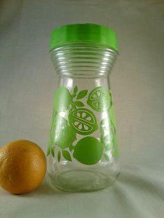 1970s+MOD+lime+green+juice+pitcherRetro+juice+by+happydayantiques,+$12.00