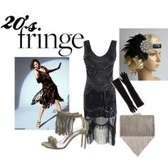 Dance and have fun   flapper headband from Blueskyhorizons 20's flapper by tamara-811 on Polyvore featuring moda, Manolo Blahnik, INC International Concepts, Marcus Adler and Prada