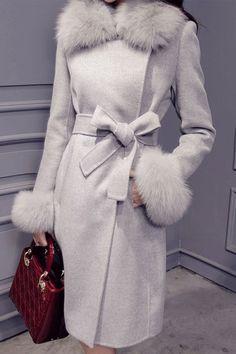 1529ab891c Lapel Hidden Button Lace-Up Coat coat fashion womens coat Abrigos De