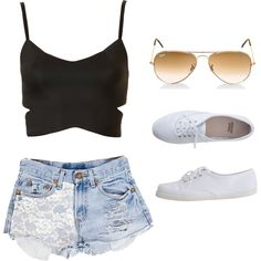 A fashion look from June 2013 featuring Topshop tops, Urban Eclectics shorts and American Apparel sneakers. Browse and shop related looks.