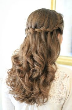 Elegant braiding and Ponytail hairstyles inspiring 30 ideas Braided hairstyles are playful, delicate and feminine, which is why they are popular with ladies of all ages. In this article, we show you whic. Hairstyles For Long Hair Easy, Sweet 16 Hairstyles, Ponytail Hairstyles, Down Hairstyles, Wedding Hairstyles, Elegant Hairstyles, Hairstyle Ideas, Waterfall Hairstyle, Natural Hair Styles