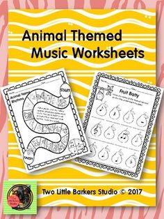 This file is a great addition to your sub tub, or for those days when you need a break but can't take another day off. Featured are several pages for K-2, with quarter note, eighth note pair and quarter rest,a recorder fingering page,one page to identify instruments from each of the 4 instrument families,and pages to draw or identify musical symbols, such as notes, rests, etc.