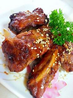 Singapore Home Cooks: Airfried Pork Back Ribs with char siew sauce by Je...