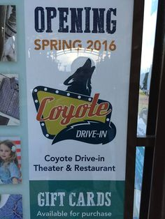 Coyote Drive-In to open theater in spring 2016 in Leeds at the Shops of Grand River Restaurant Gift Cards, Birmingham News, Drive In Theater, 50 States, Leeds, Spring 2016, Alabama, Shops, River