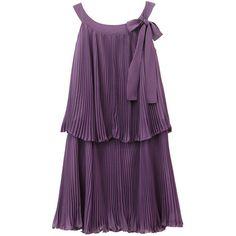 【2010A/W 新作★】ラウンドトゥフラットパンプス■ES1615 ❤ liked on Polyvore featuring dresses, vestidos, haljine and purple