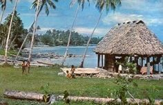 Fale on the beach, Samoa. #travelnewhorizons