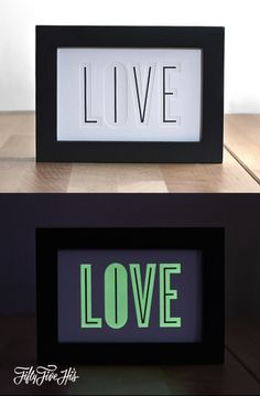 Live & Love Glow in the Dark Print by 55 Hi's.