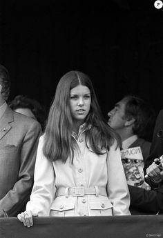 La princesse Caroline de Monaco au Grand Prix de F1 de Monaco en 1971.