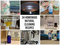 34 Homemade Natural Cleaning Recipes