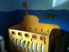 Miranda would love this!  ♫ We all 'sleep' in a yellow submarine, yellow submarine, yellow submarine...♫