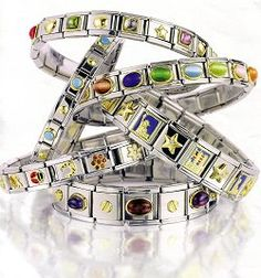 The Italian Charm Modular Bracelet is a hot fashion trend. Made famous in Italy about sixteen years ago, these bracelets have been in California for years.