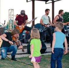 Eric Dysart, Tobias Freeman, Josh Bryant and Brandon Robold from the band Backroad Anthem