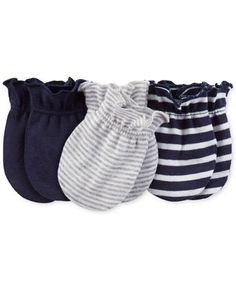 """Carter's Boys 3 Pack Assorted Solid Navy/Light Grey Striped/Navy Striped Mittens - Carters - Babies""""R""""Us Carters Baby Boys, Baby Kids, Baby Baby, Kids Birth, Striped Mittens, Diaper Bag, Baby Boy Accessories, Baby Mittens, Mitten Gloves"""