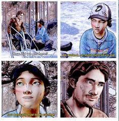 Luke and Clementine | The Walking Dead (Telltale Game) twdg scene