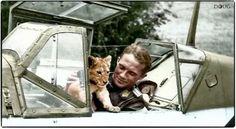 """Oberleutnant Franz Von Werra   The One that Got Away""""Oberleutnant Franz von Werra with """"Simba ..."""