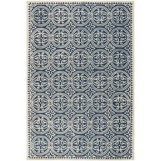 The Safavieh Cambridge Navy Blue/Ivory Area Rug is just the thing you need to boost the contemporary charm of your home. Its bold geometric pattern in ivo...