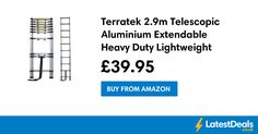 Terratek 2.9m Telescopic Aluminium Extendable Heavy Duty Lightweight Ladder, £39.95 at Amazon Body Groomer, Big Engagement Rings, Guitar For Beginners, Wet And Dry, Real People, Acoustic Guitar, Telescope, Solar Power, The Row