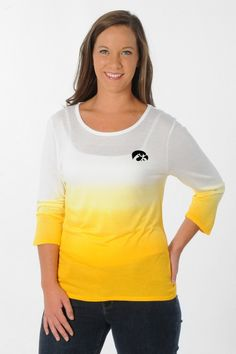 Dip into your inner fashionista with our University of Iowa Hawkeyes Ombre Top!- University Girls Apparel