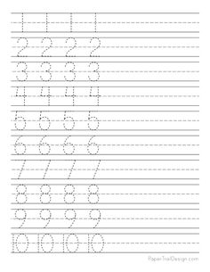 Free Number Tracing Worksheets - Paper Trail Design
