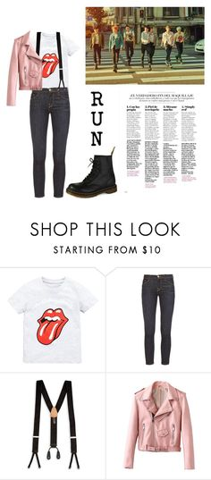 """""""BTS - Run"""" by lexikth ❤ liked on Polyvore featuring Frame, Trafalgar and Dr. Martens"""
