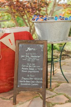 Black Boards Large Wood Framed Standing Chalkboard Easels (two sided)$34.99 For the menu