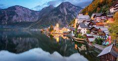 L'image de la semaine : un joli village installé sur les berges d'un lac niché au coeur des montagnes autrichiennes
