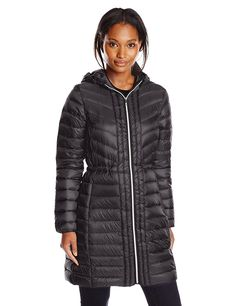 Cole Haan Women's Mid Length Packable Down Coat -- This is an Amazon Affiliate link. You can find more details by visiting the image link.