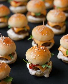 The Best Mini Burgers Recipe. Soo Cute!! #football #tailgate