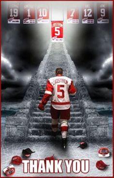 Sure miss seeing you on the ice Lidstrom. I miss the leadership you brought to the team.