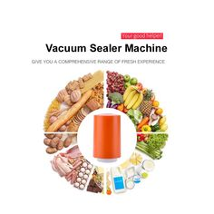 Mini Handy Vacuum Sealer Handheld Vacuum Sealing Machine Small Kitchen Appliance For Food Saver Storage Orange * Check this awesome product by going to the link at the image. (This is an affiliate link) Dehydrators, Hand Blender, Vacuum Sealer, Cake Makers, Handheld Vacuum, Specialty Appliances, Blenders, Small Kitchen Appliances, Cake Pop