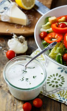 Creamy Parmesan Dressing (Carrabba's Copycat) from @FMSCLiving