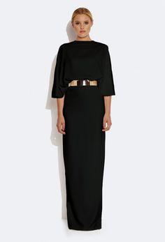 Seiber Backless Maxi Dress - Black