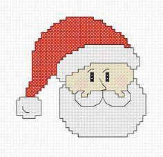 Easy Cross Stitch patterns. Cross Stitch Addict: FREE Cross Stitch Pattern - 'Santa'