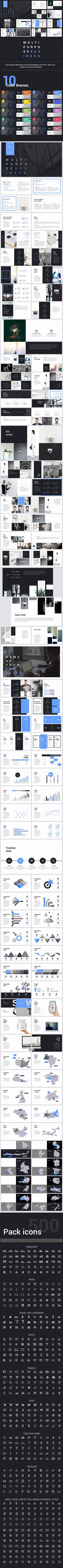 Multipurpose Business Clean #Powerpoint - Business PowerPoint Templates