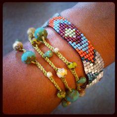 Indian Summer Bead Loom Bracelet