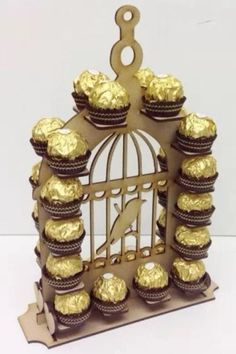 Unique & unusual ferrero rocher stand, this will definitly grab anyones attention it is just so Lovley Freestanding double sided Display