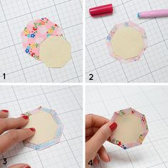 Quilted Petal Coasters Tutorial