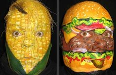 An imaginative artist has given himself a different face every day, for a   year.