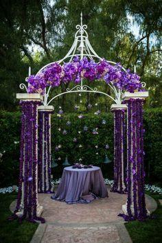 purple Wedding Alter Decorations #timelesstreasure
