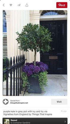 Is your front door looking a little plain and simple? Make a great first impression with these wonderfully creative front door ideas. Whether you're #frontdoorflower #flower #potflower