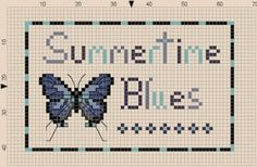 Summertime Blues Sampler · Cross-Stitch | CraftGossip.com