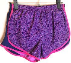 fd443f716850 Nike Dri-Fit Tempo Printed Shorts Size Medium Womens Running Track Pink  Purple #Nike
