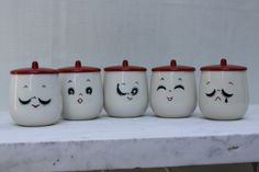 Eastern Expressions LAST ONE Vintage Faces Calm tea cup ceramic bakelite Rare Find. $42.00 each one, via Etsy. (SOLD)