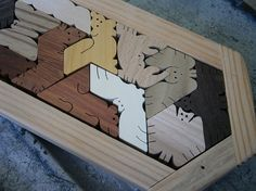 Wood Puzzle for Adults Hexiamond Oblong by scrollwoodshop on Etsy