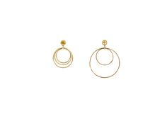 32.4 The Observer earrings / small / large in solid gold