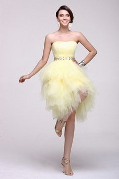 A-Line Tüll Eleganten Partei Kleid ba2543 - http://www.brautmode-abendkleid.de/a-line-tull-eleganten-partei-kleid-ba2543.html - Ausschnitt: Trägerlos. Stoff: Tüll. Ärmel: Ärmellos. Farbe: Gold. Silhouette: A-Line. - 193.59
