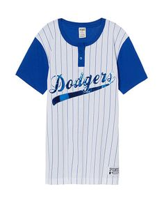 49c05e08917 Los Angeles Dodgers Bling Campus Henley Tee Bling Shirts