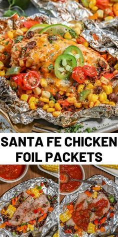 Chicken Foil Packets are the perfect easy, breezy summer grilling meal! With hea. - Chicken Foil Packets are the perfect easy, breezy summer grilling meal! With heart-healthy pieces o - Easy Pasta Recipes, Easy Chicken Recipes, Easy Meals, Cooking Recipes, Healthy Grilling Recipes, Easy Grill Recipes, Healthy Meals With Chicken, Heart Healthy Chicken Recipes, Summer Entrees